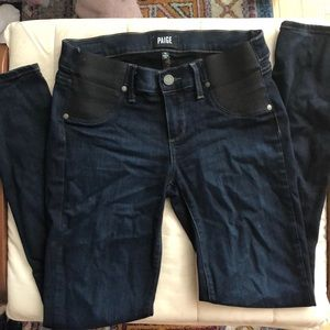 paige verdugo ankle skinny maternity jeans sz 25